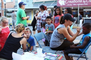Muscatine Second Saturday face painting Kymberly Morrison