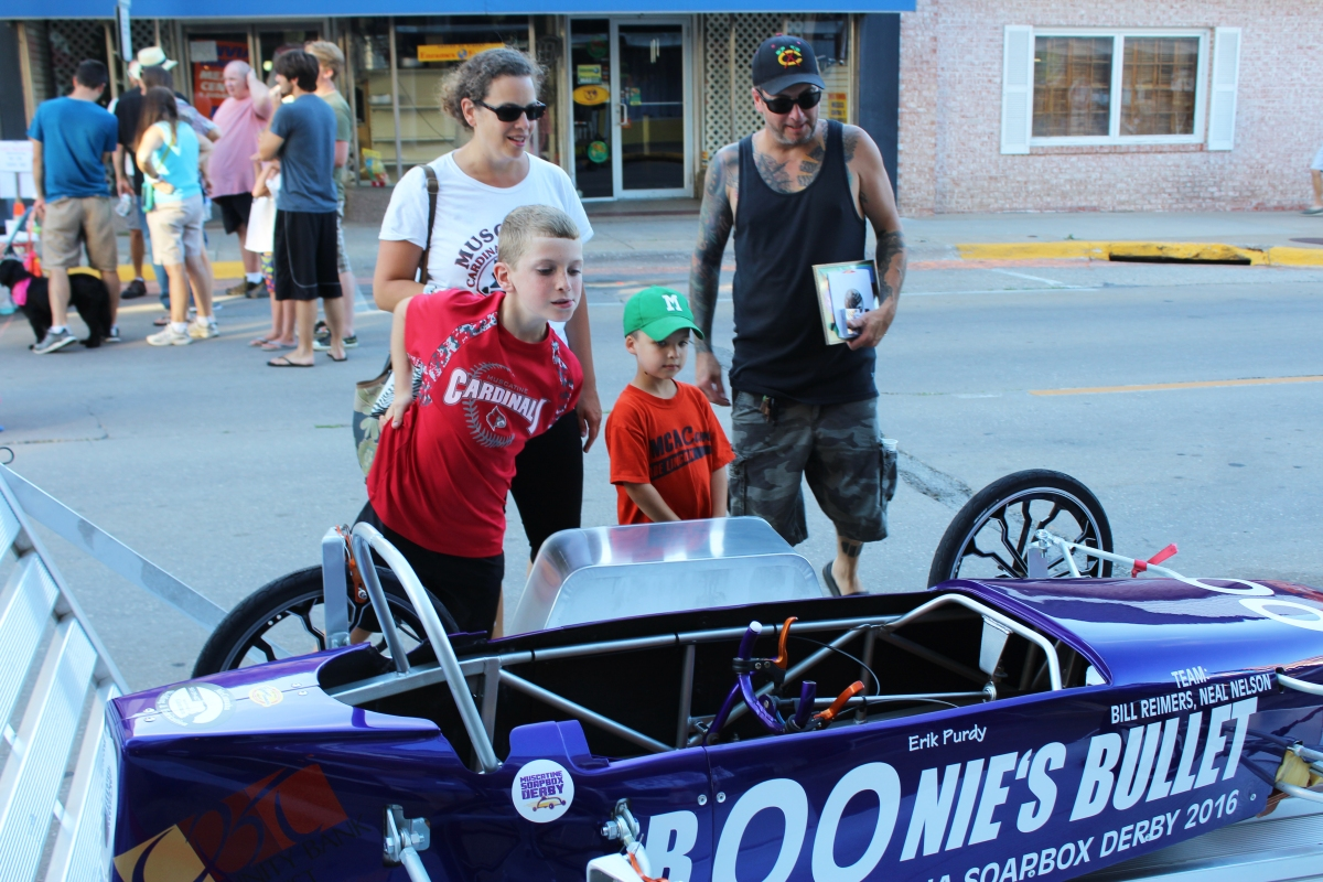 Muscatine Second Saturday Muscatine Soapbox Derby car